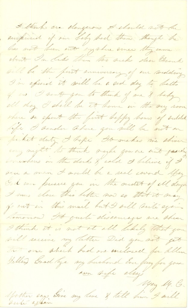 Joseph Culver Letter, December 2, 1862, Page 3