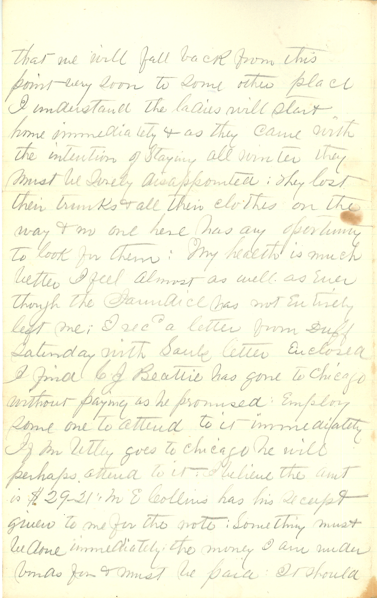 Joseph Culver Letter, December 22, 1862, Page 2
