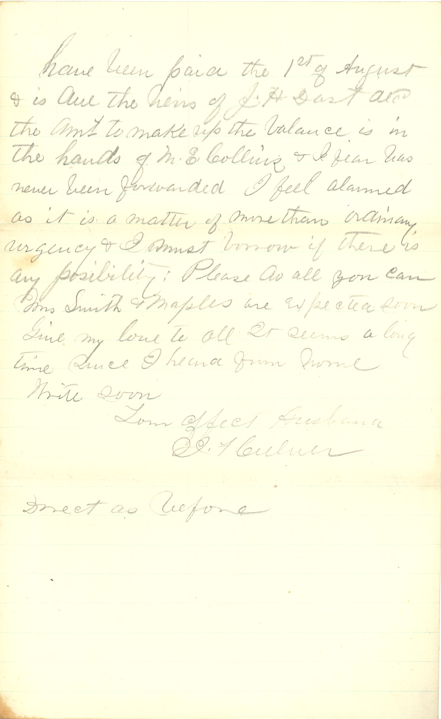Joseph Culver Letter, December 22, 1862, Page 3