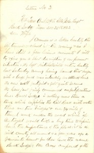 Joseph Culver Letter, December 25, 1862, Letter 2, Page 1