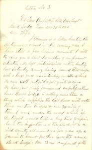 Joseph Culver Letter, December 25, 1862, Letter 2, Page 1