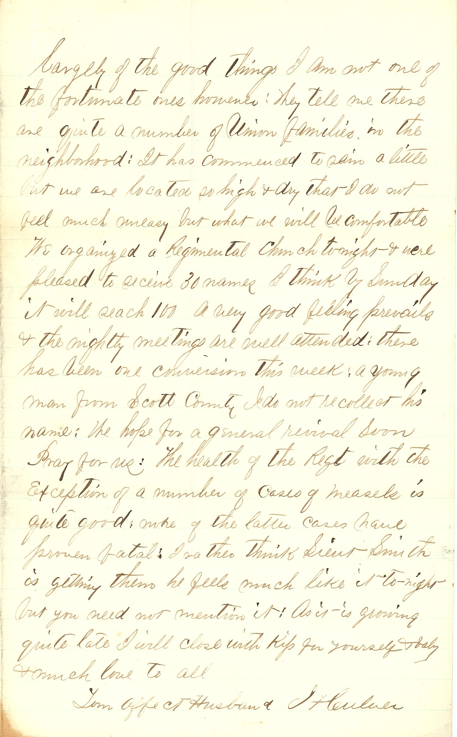 Joseph Culver Letter, December 25, 1862, Letter 2, Page 3