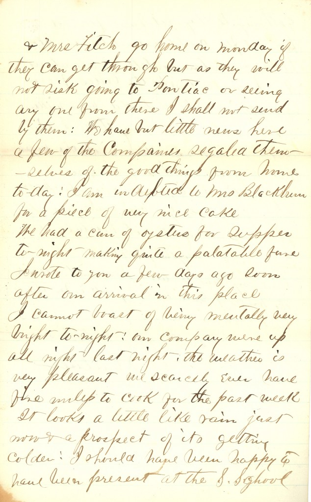 Joseph Culver Letter, December 25, 1862, Page 3
