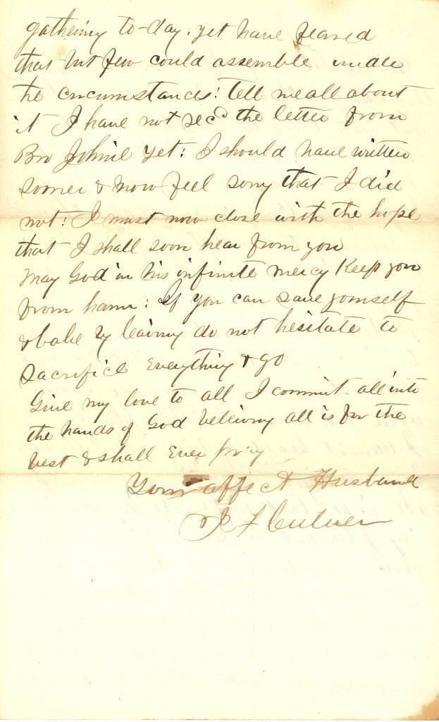 Joseph Culver Letter, December 25, 1862, Page 4