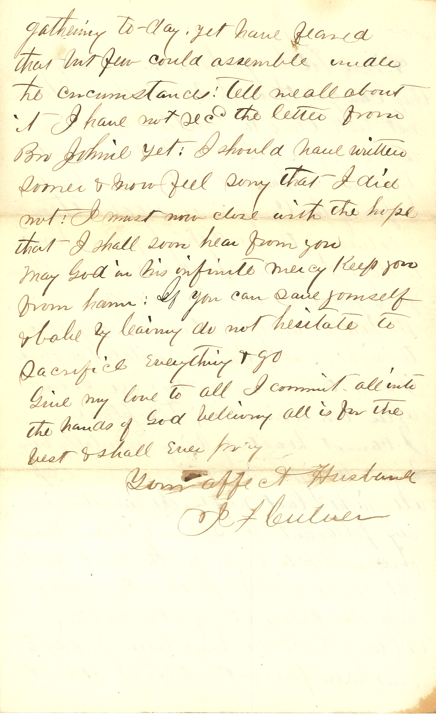 Joseph Culver Letter, December 25, 1862, Page 4