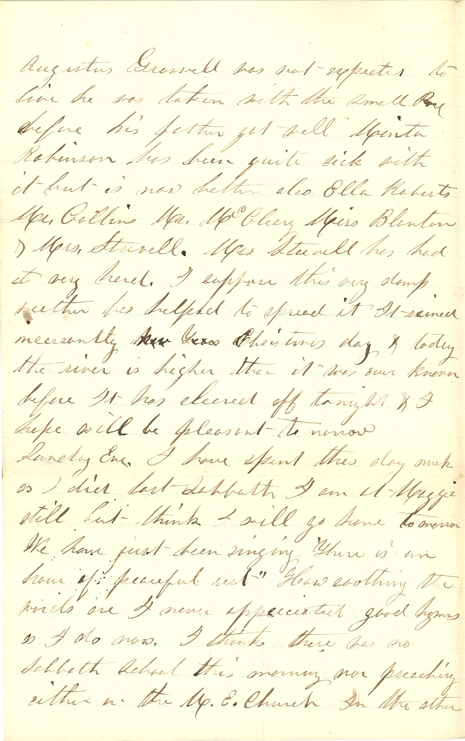 Joseph Culver Letter, December 27, 1862, Page 2