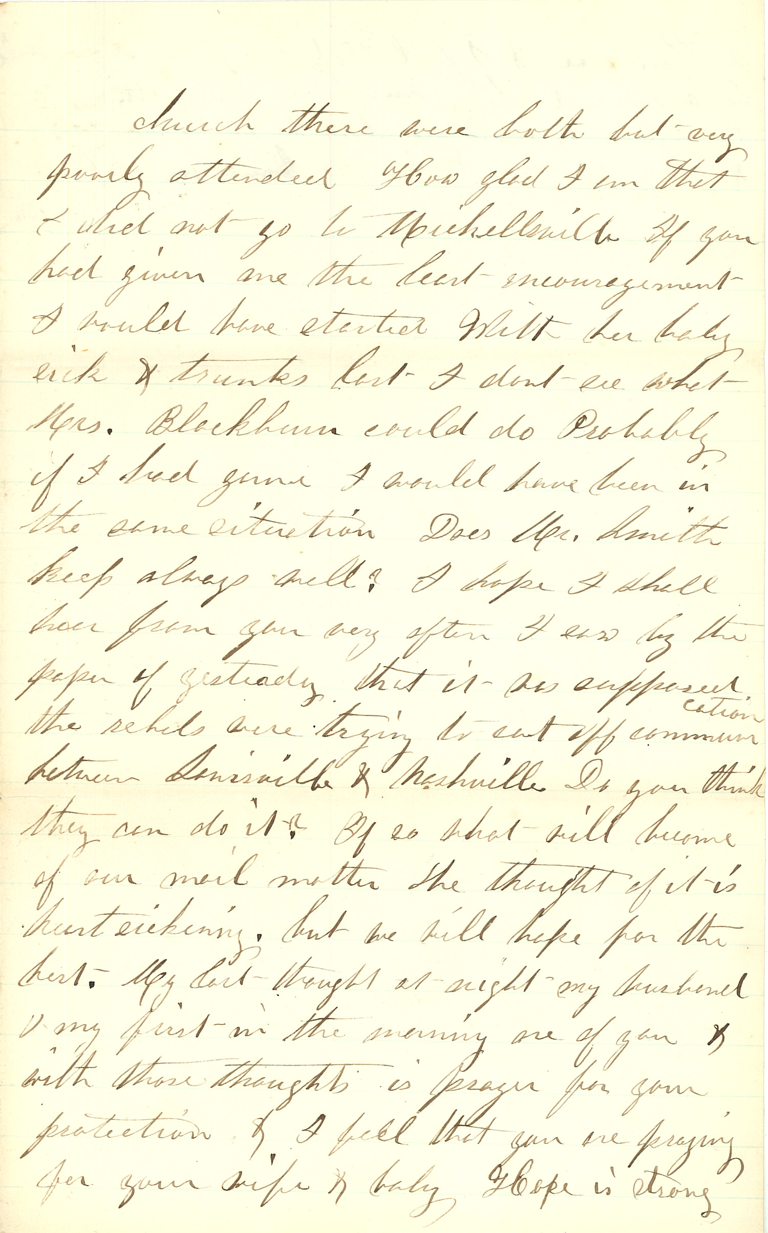 Joseph Culver Letter, December 27, 1862, Page 3