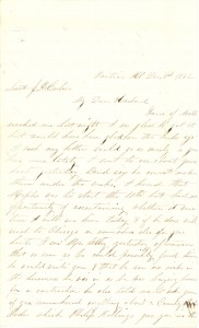 Joseph Culver Letter, December 3, 1862, Page 1