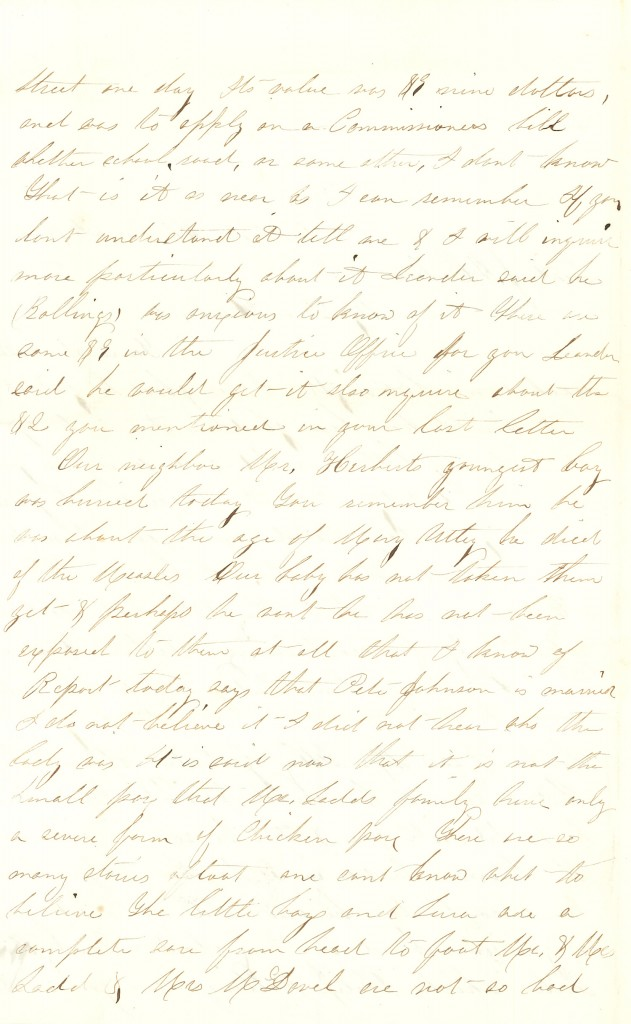Joseph Culver Letter, December 3, 1862, Page 2