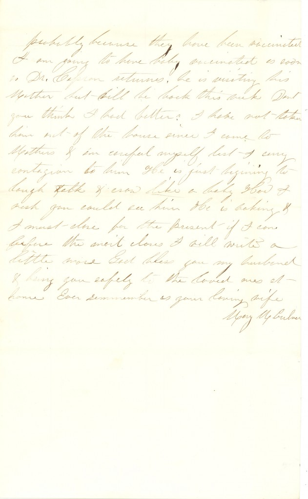 Joseph Culver Letter, December 3, 1862, Page 3