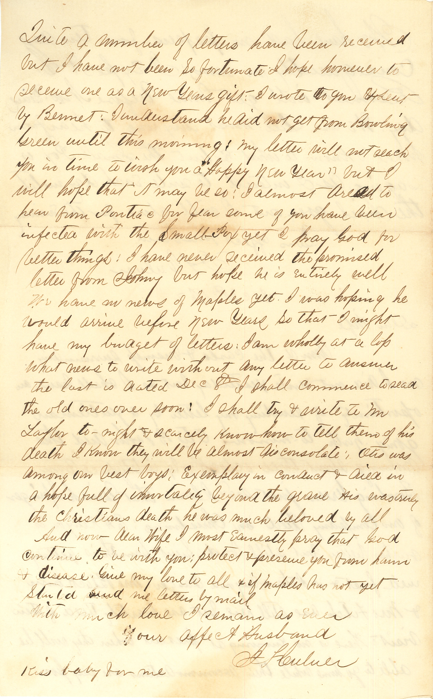Joseph Culver Letter, December 30, 1862, Page 2