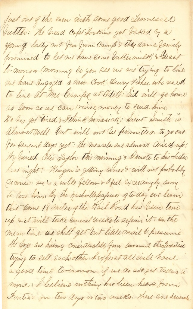 Joseph Culver Letter, December 31, 1862, Page 2