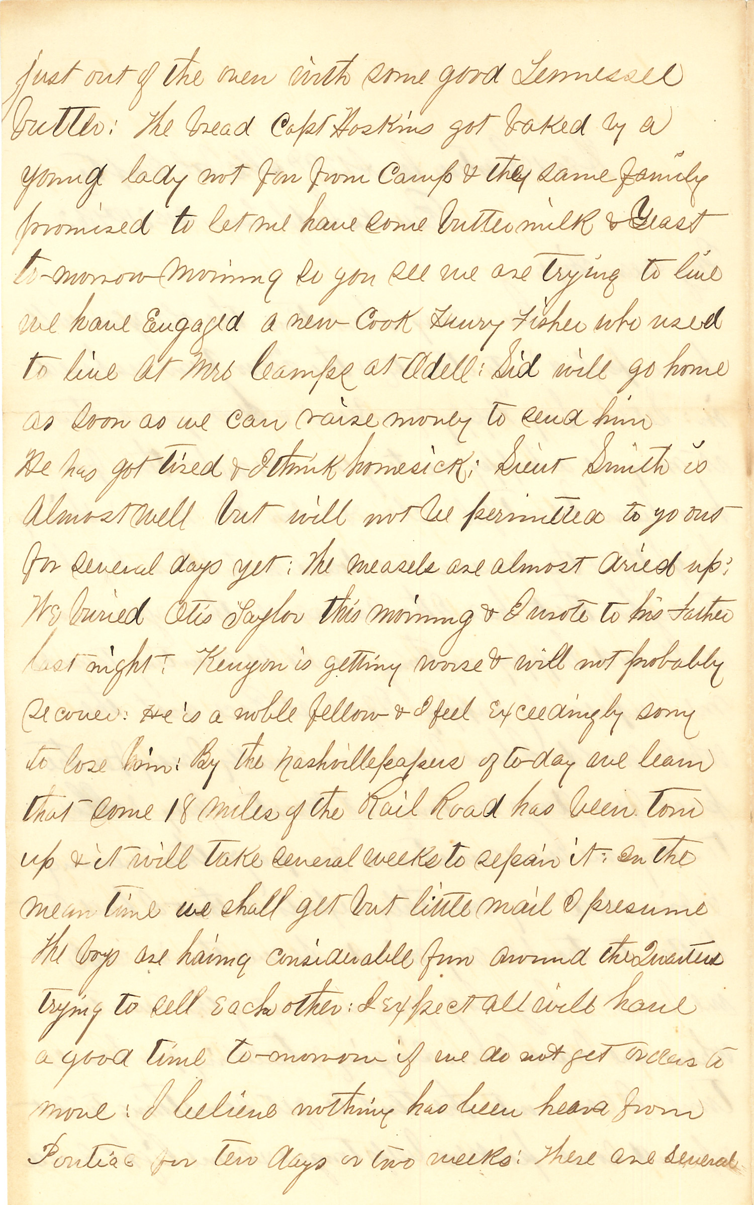 Joseph Culver Letter, December 31, 1862, Page 2