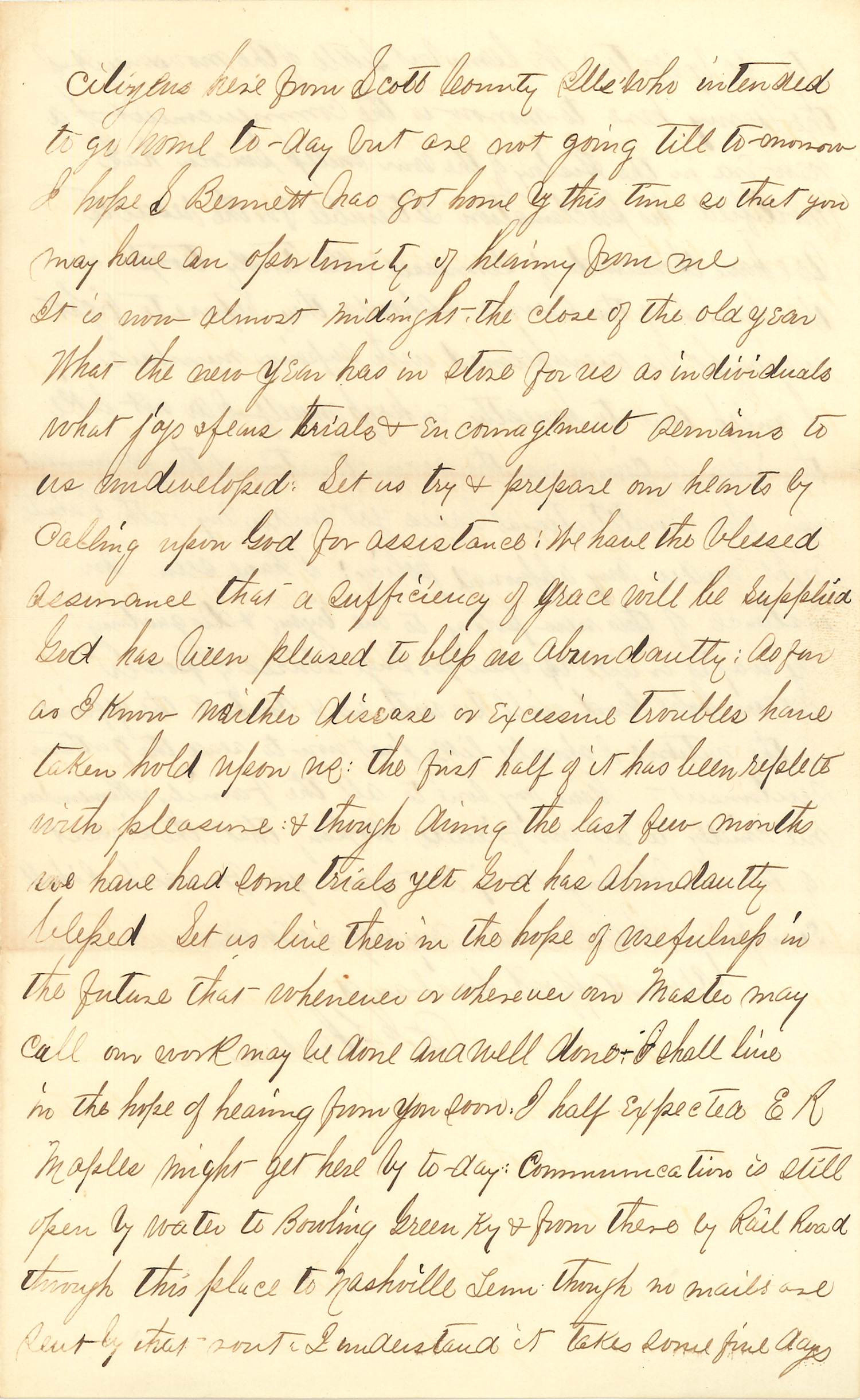 Joseph Culver Letter, December 31, 1862, Page 3