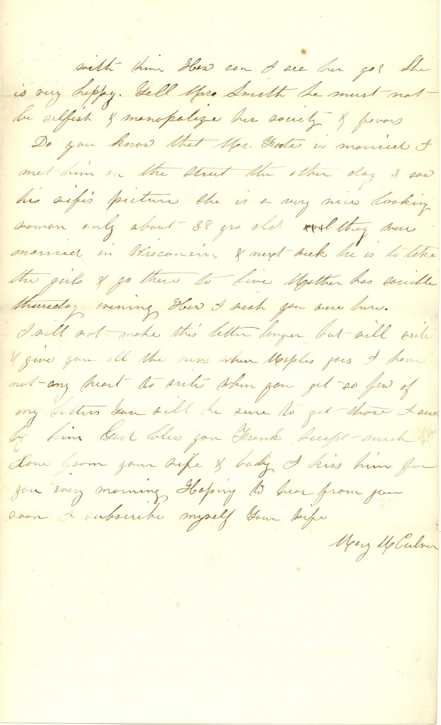 Joseph Culver Letter, December 7, 1862, Page 3