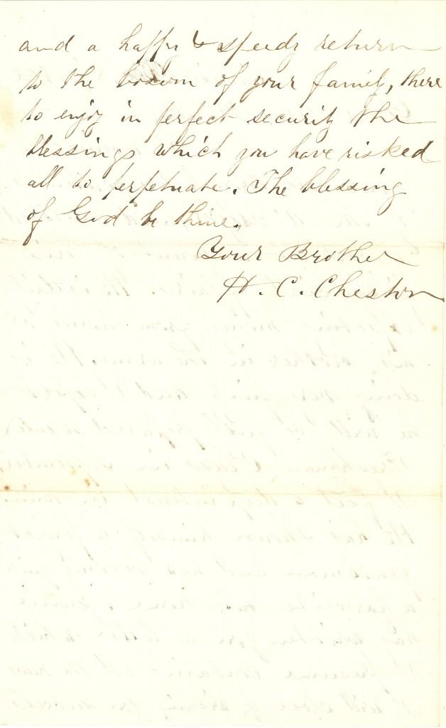 Joseph Culver Letter, December 8, 1862, Page 2