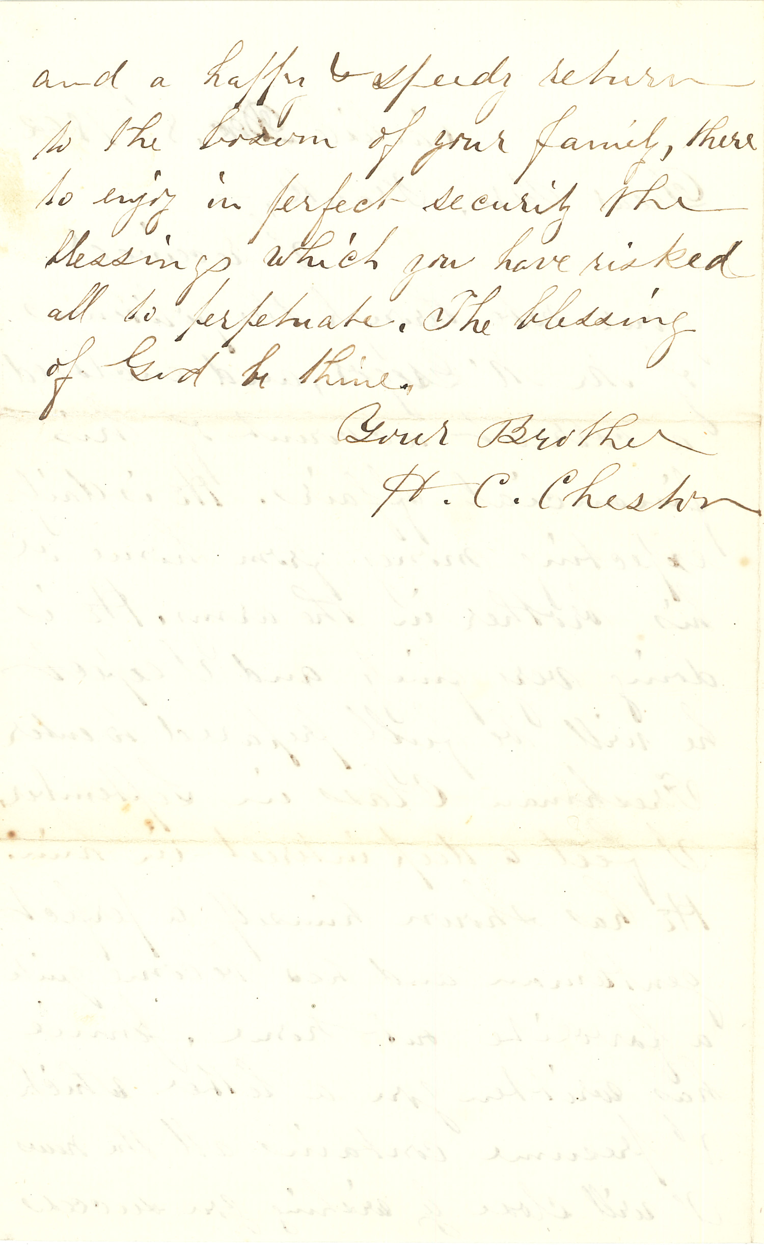 Joseph Culver Letter, December 8, 1862, Page 2