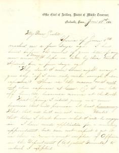 Joseph Culver Letter, June 13, 1865, Page 1