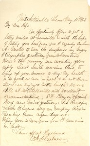 Joseph Culver Letter, January 10, 1863, Letter 2, Page 1