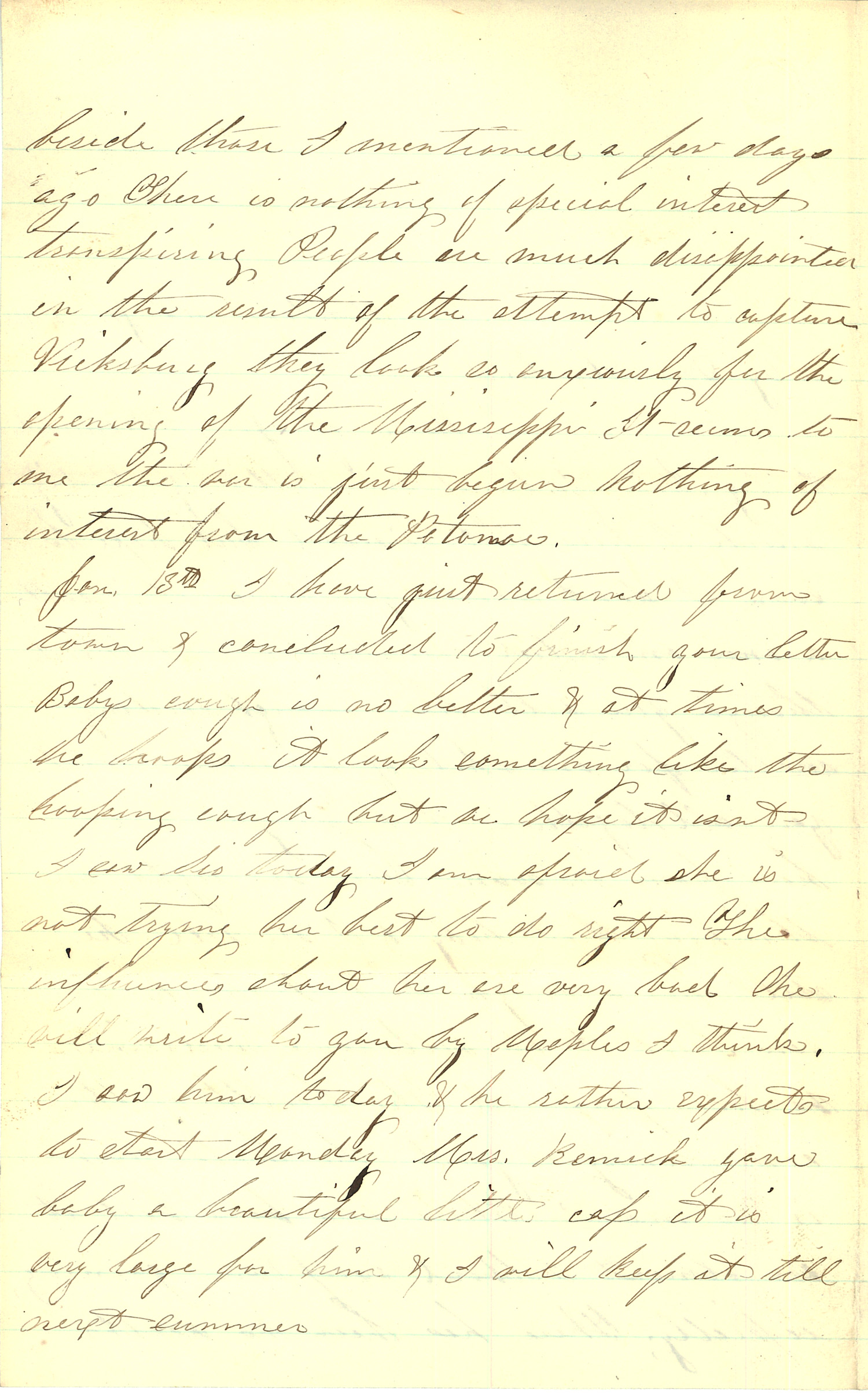 Joseph Culver Letter, January 12, 1863, Letter 2, Page 2