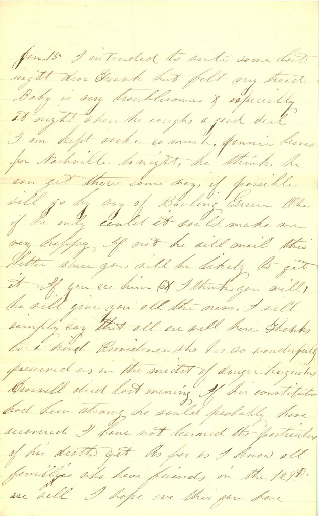 Joseph Culver Letter, January 12, 1863, Letter 2,  Page 3