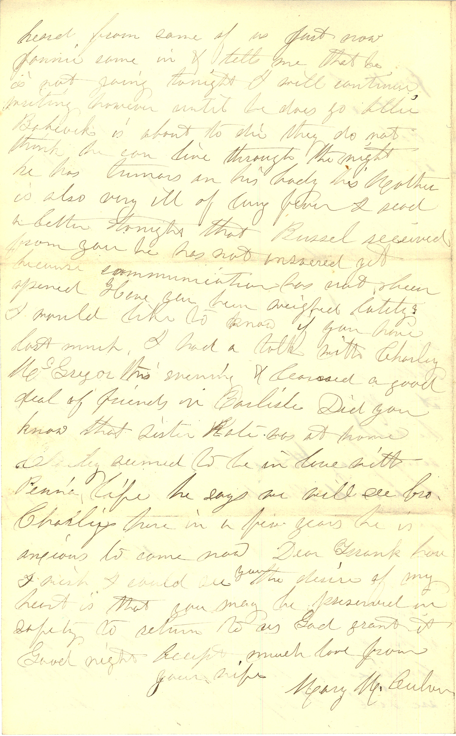 Joseph Culver Letter, January 12, 1863, Letter 2, Page 4