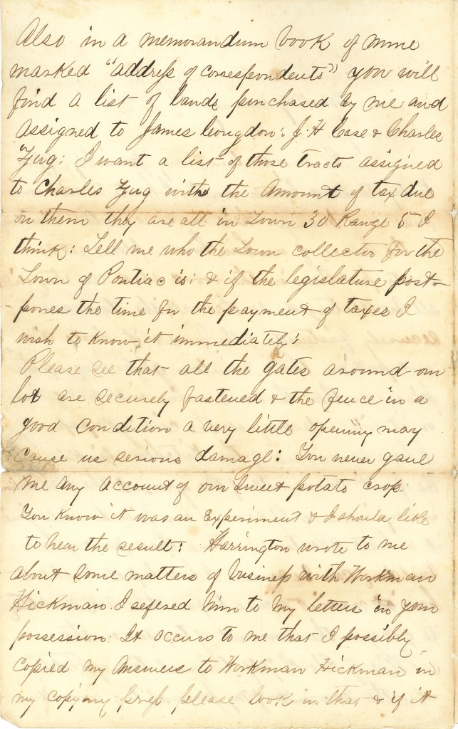 Joseph Culver Letter, January 19, 1863, Letter 2, Page 2