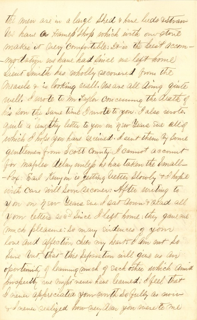 Joseph Culver Letter, January 4, 1863, Page 2