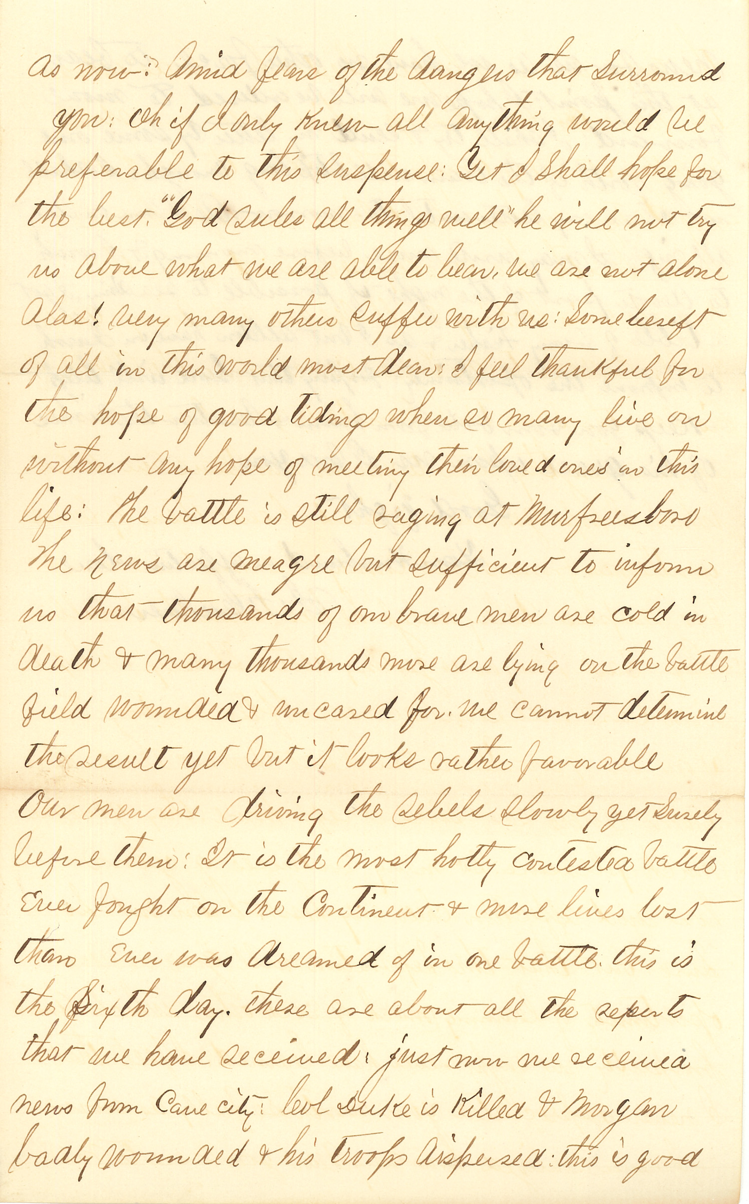 Joseph Culver Letter, January 4, 1863, Page 3