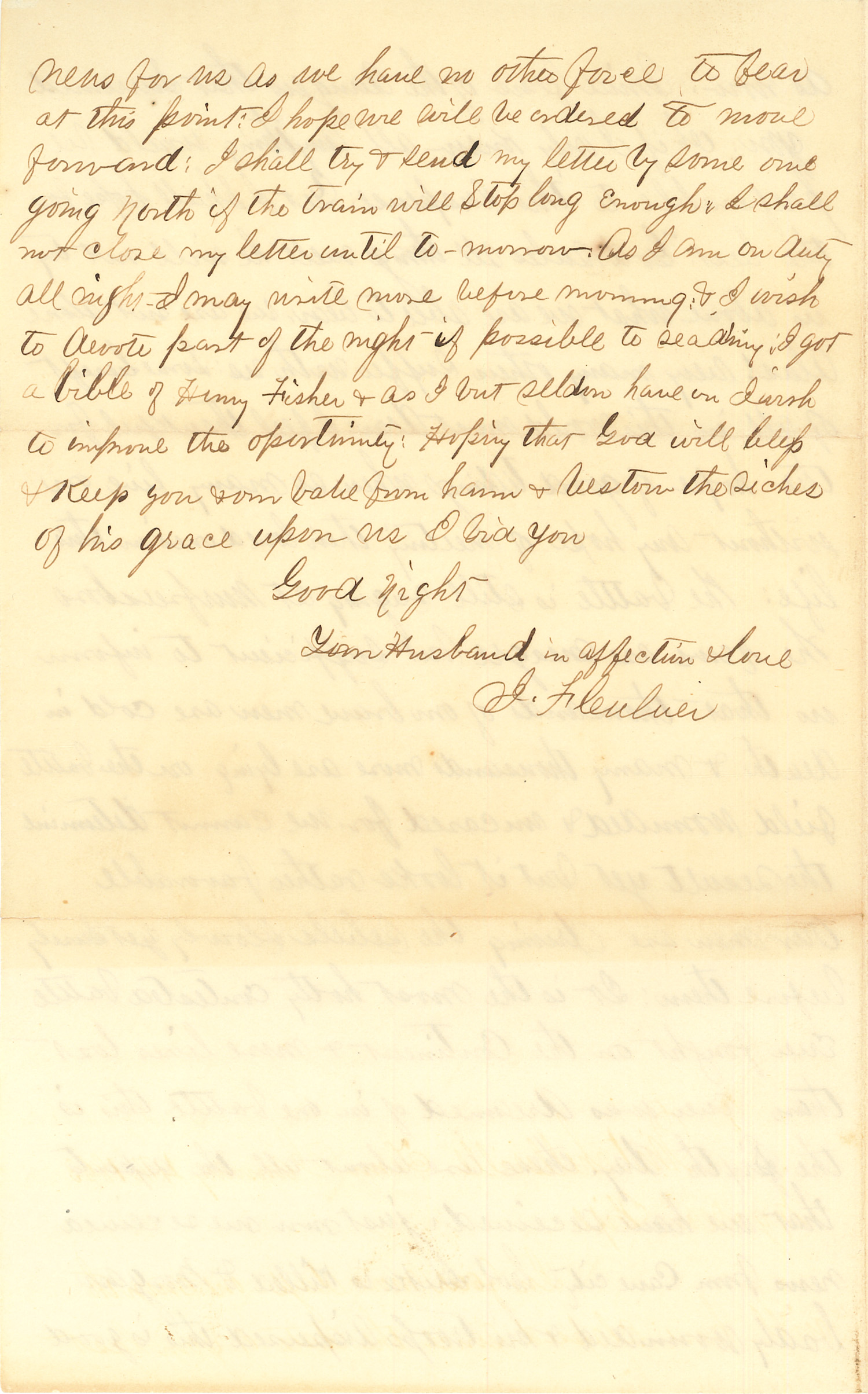 Joseph Culver Letter, January 4, 1863, Page 4