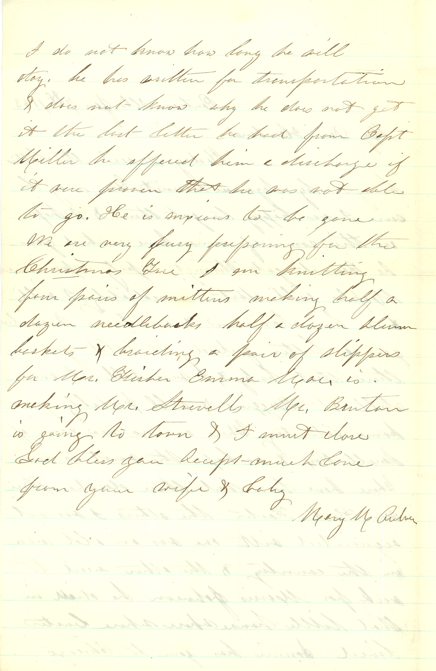 Joseph Culver Letter, January 7, 1863, Page 2