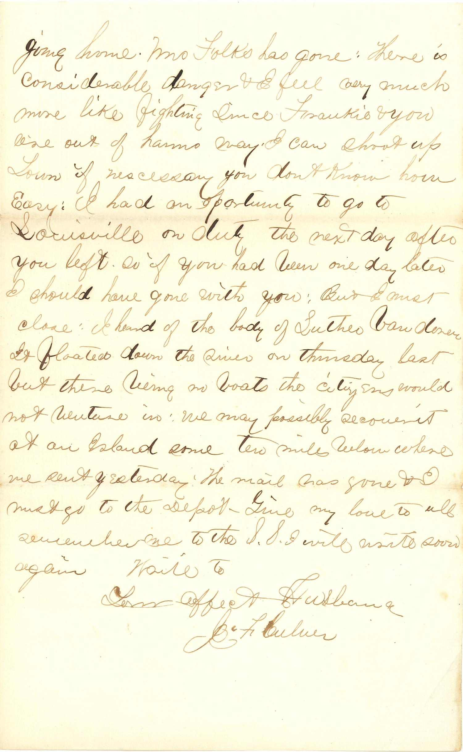 Joseph Culver Letter, June 22, 1863, Page 3