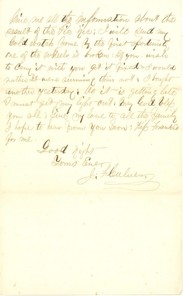 Joseph Culver Letter, June 28, 1863, Page 3
