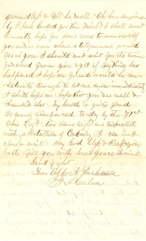 Joseph Culver Letter, July 10, 1863, Page 2