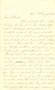 Joseph Culver Letter, July 27, 1863, Letter 2, Page 1