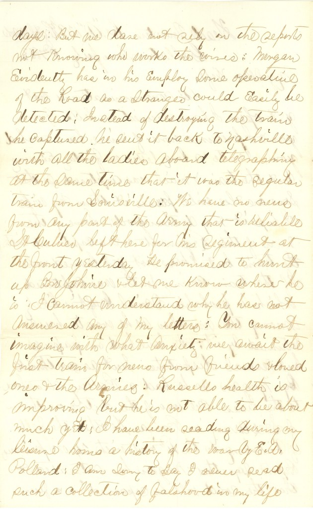 Joseph Culver Letter, July 8, 1863, Page 2