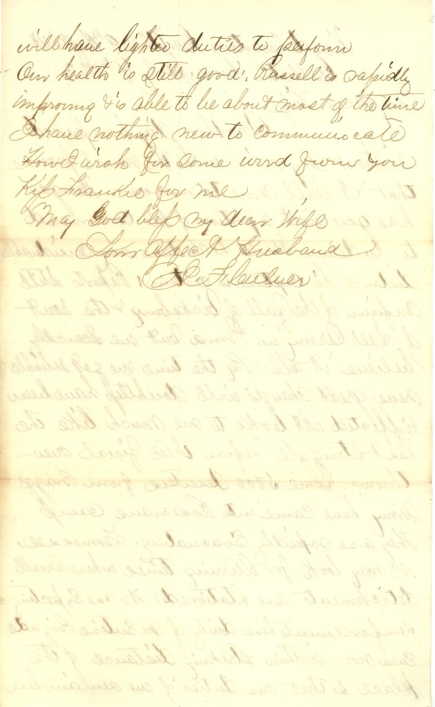 Joseph Culver Letter, July 9, 1863, Page 2