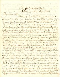 Joseph Culver Letter, August 14, 1863, Letter 2, Page 1
