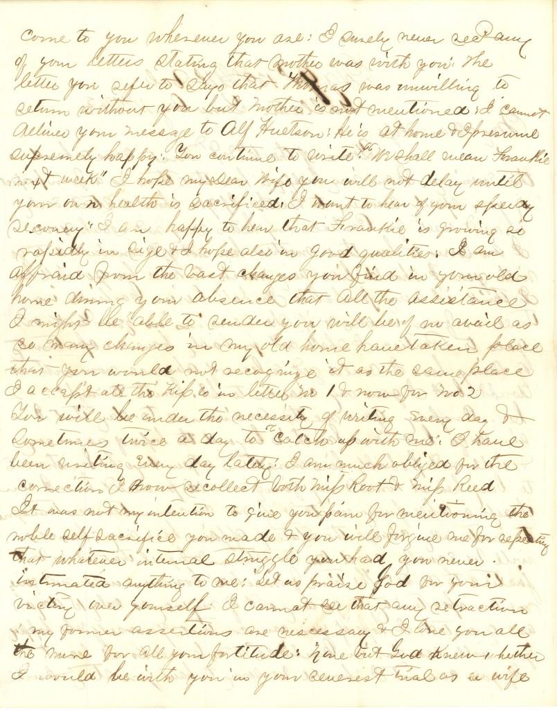 Joseph Culver Letter, August 14, 1863, Letter 2, Page 2