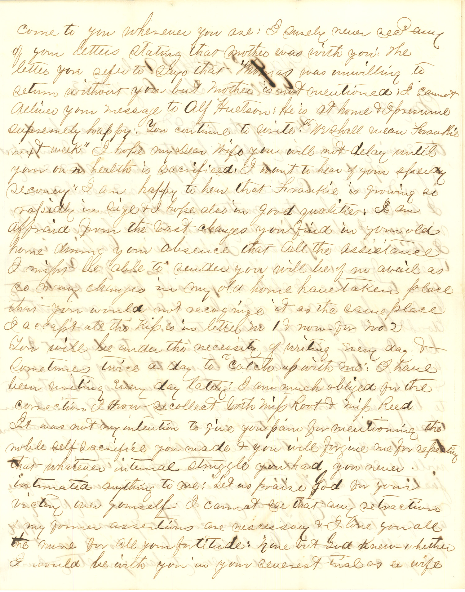 Joseph Culver Letter, August 14, 1863, Letter 2, Page 2