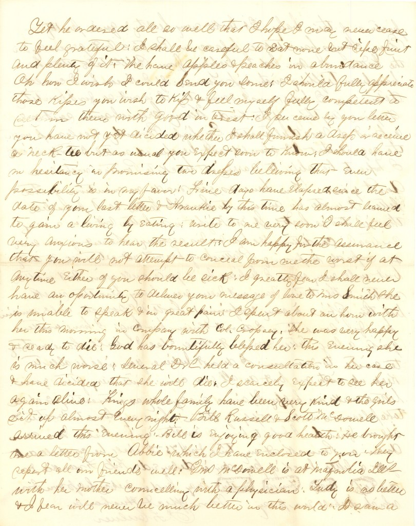 Joseph Culver Letter, August 14, 1863, Letter 2, Page 3