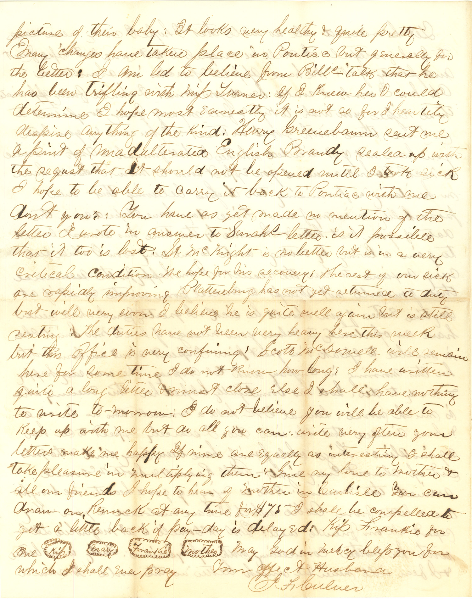 Joseph Culver Letter, August 14, 1863, Letter 2, Page 4