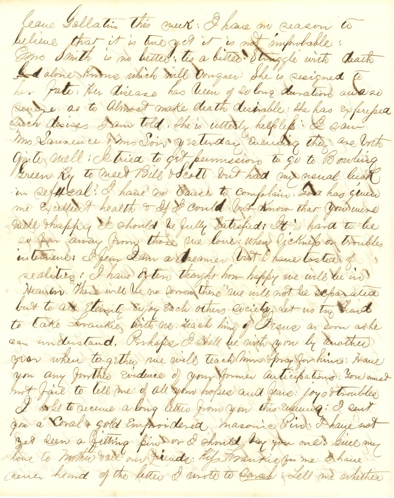 Joseph Culver Letter, August 14, 1863, Page 2