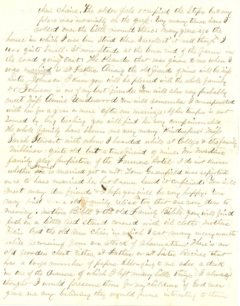 Joseph Culver Letter, August 19, 1863, Page 3