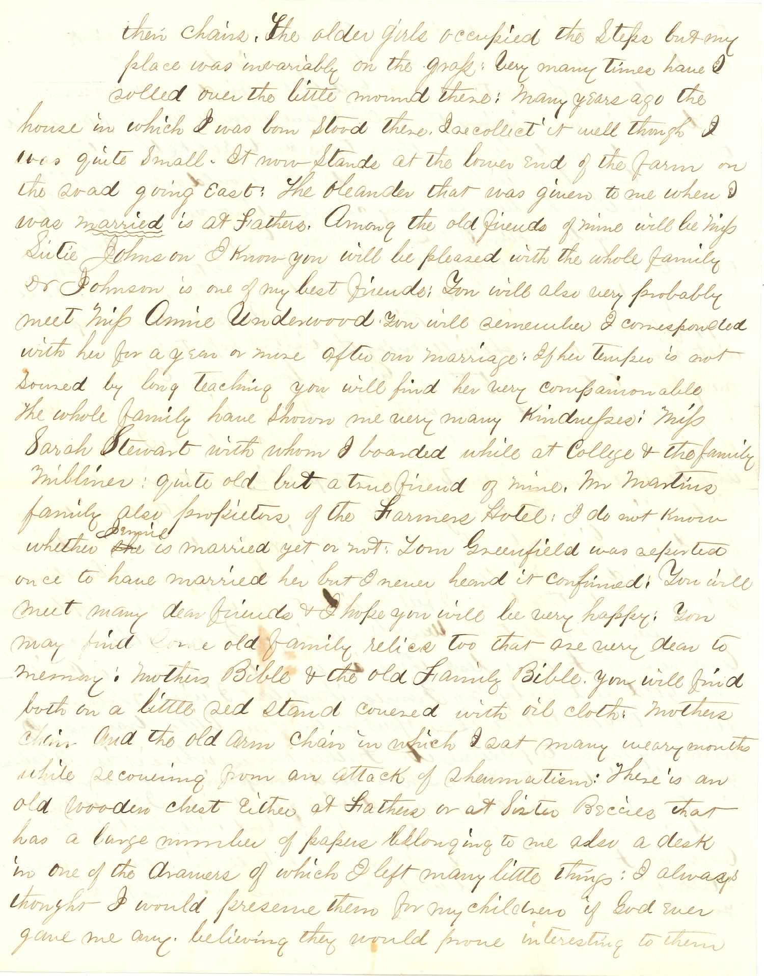 Joseph Culver Letter, August 19, 1863, Page 3