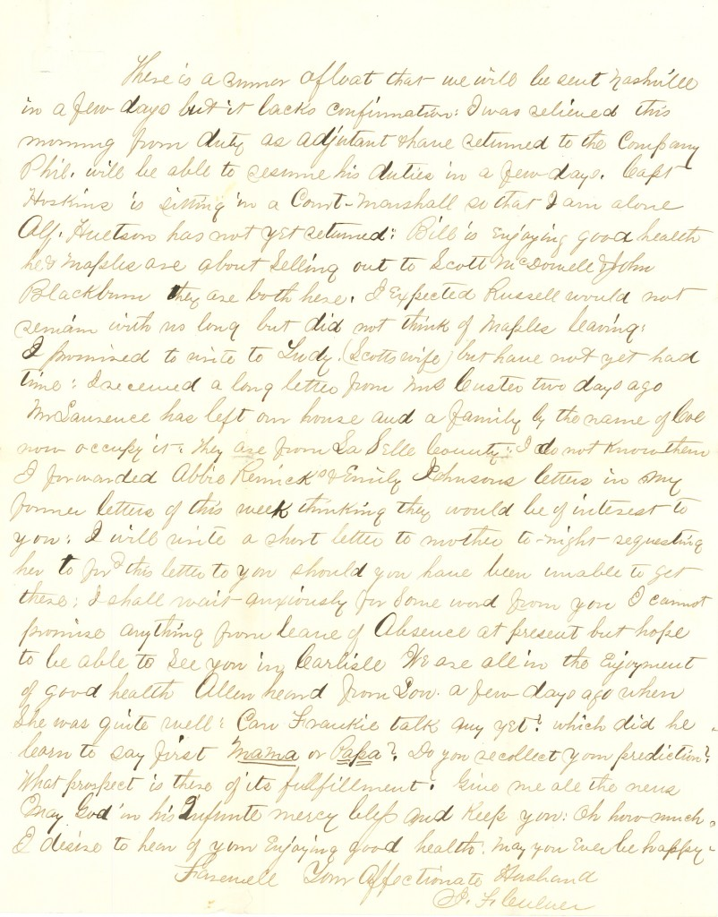 Joseph Culver Letter, August 19, 1863, Page 5