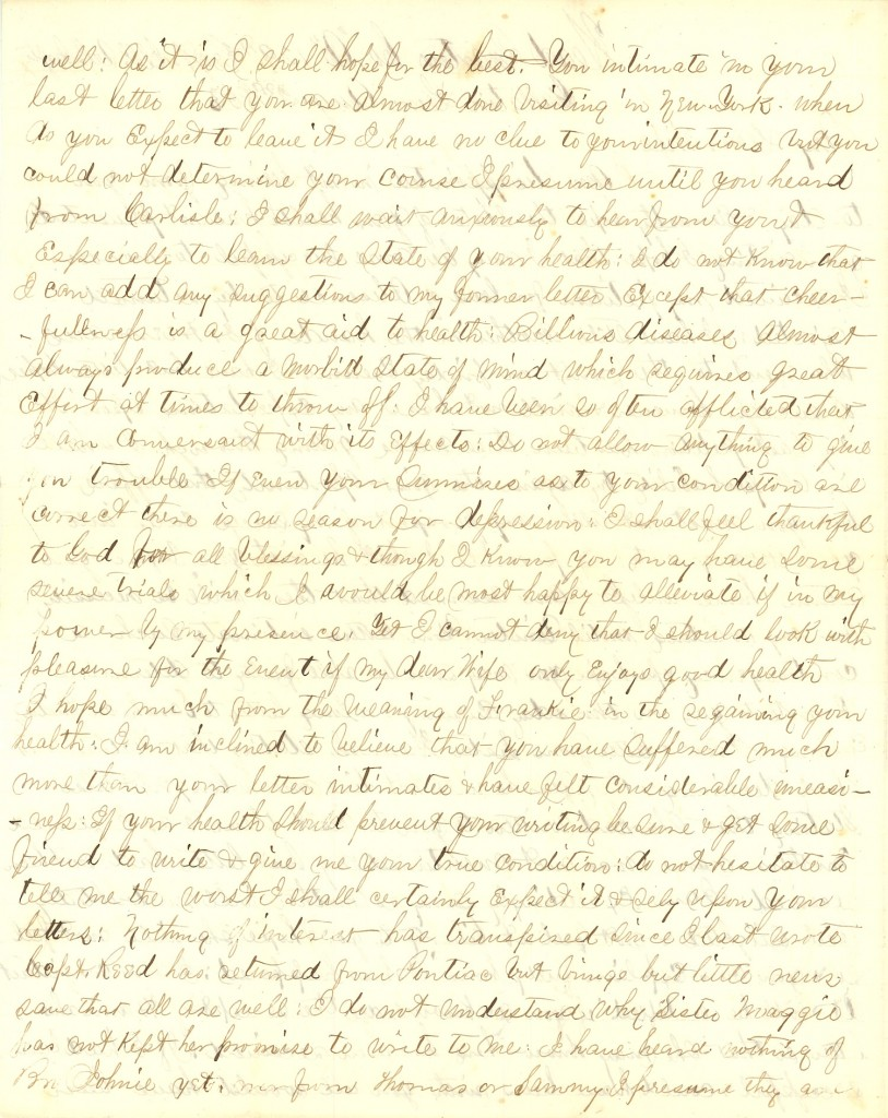 Joseph Culver Letter, August 2, 1863, Page 2