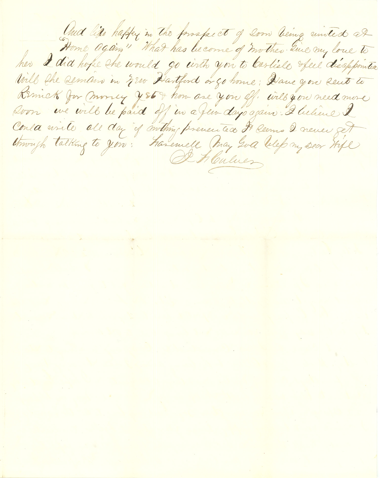 Joseph Culver Letter, August 28, 1863, Letter 2, Page 3