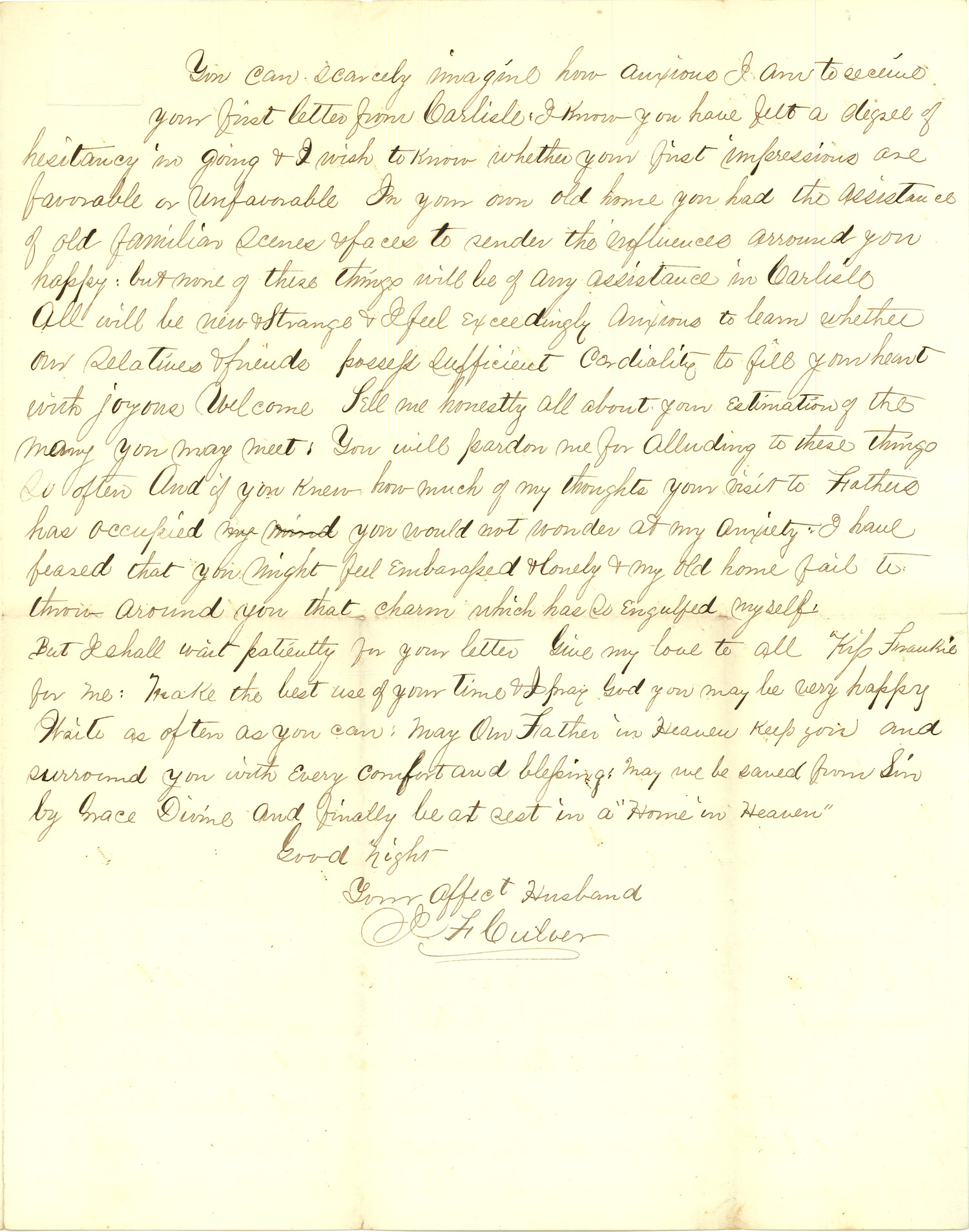Joseph Culver Letter, August 30, 1863, Page 3