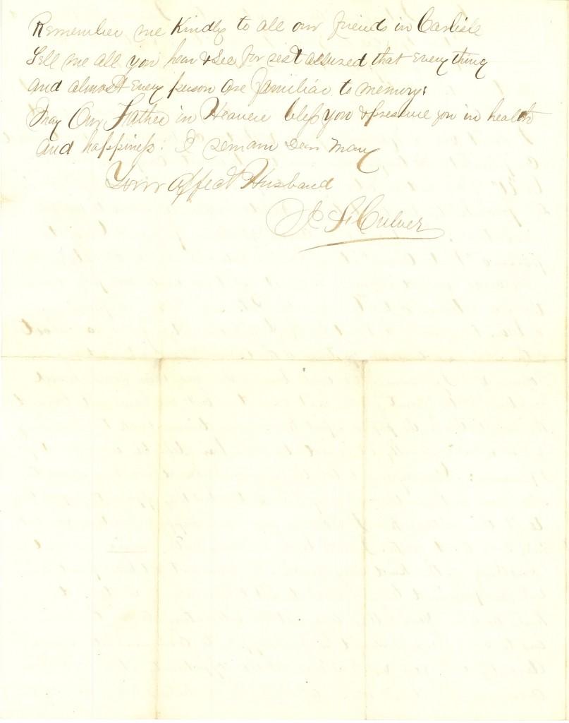 Joseph Culver Letter, September 18, 1863, Page 4